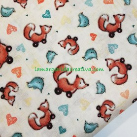 Tela patchwork Santoro london Foxy lamargaridacreativa