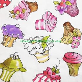 Tela patchwork cupcakes lorelay lamargaridacreativa 2