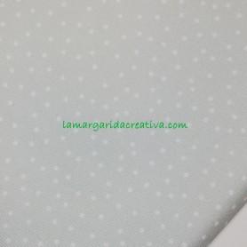 Tejido Piqué topitos verde empolvado lamargaridacreativa 2