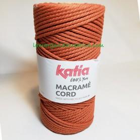 Hilo macramé cord reciclado katia color teja lamargaridacreativa 5