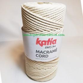 Hilo cordón, cuerda macramé cord reciclado katia color crudo lamargaridacreativa 4