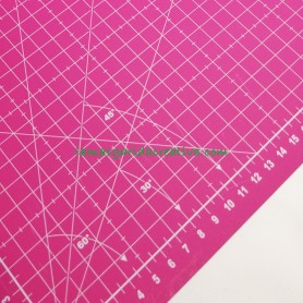 Base corte patchwork ideas fucsia 30x45 lamargaridacreativa