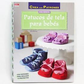 Libro patchwork Patucos de tela para bebés.