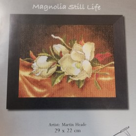 Kit punto cruz Lanarte Platinum Magnolia Blanca Romantic 4