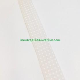 Bies algodón puntitos fondo beige 3