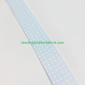 Bies algodón puntitos fondo azul lamargaridacreativa 3