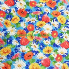 Tela patchwork floral vibrant garden lamragraidacreativa 3