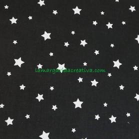 Tela patchwork estrellas fondo negro lamargaridacreativa 4