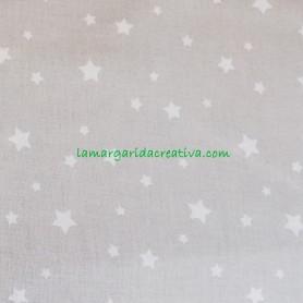Tela patchwork estrellas fondo gris lamargaridacreativa  4
