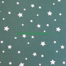 Tela patchwork estrellas fondo verde lamargaridacreativa 2
