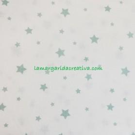Tela patchwork estrellas verde mint lamargaridacreativa 2