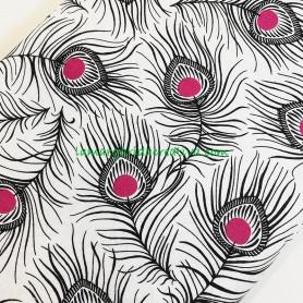 Tela patchwork fantasís plumas pavo real lamargaridacreativa 4