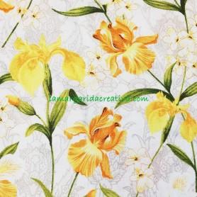 Tela patchwork  estampado floral serenity lamargaridacreativa 3