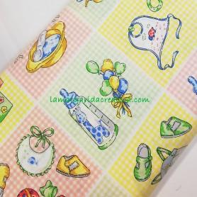 Tela patchwork estampado infantil bebé lamargaridacreativa