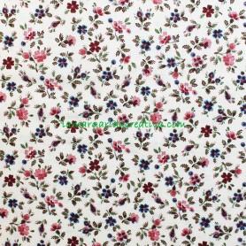 Tela patchwork estampado floral pequeña flor 4