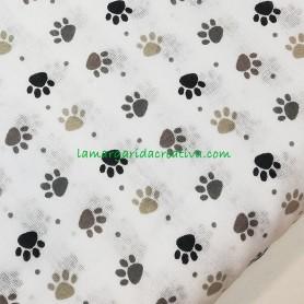 Tela patchwork estampada animales huellas 3