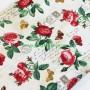 Tela patchwork estampado floral letrero rosas rojas 2