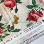 Tela patchwork estampado floral letrero rosas rojas 3