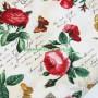 Tela patchwork estampado floral letrero rosas rojas 4