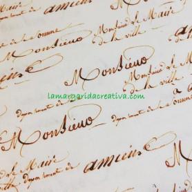 Tela patchwork estampada antique lettering 3