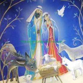 Panel patchwork Navidad pesebre nacimiento