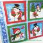 Panel patchwork Navidad muñeco de nieve 2