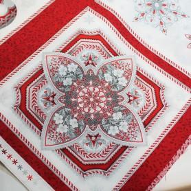 Tela patchwork Navidad Holiday Flourish Cenefa 2
