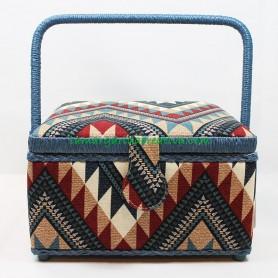 Costurero forrado tela estampado etnico en tu tienda online lamargaridacreativa 5