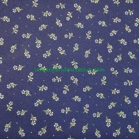 Tela patchwork estampado floral florecitas azul 3