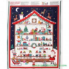 Calendario Adviento infantil patchwork Elfos Christmas