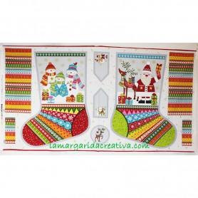 Botas Navidad Infantiles  patchwork noel Christmas 5