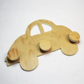 Colgador coche madera para decorar
