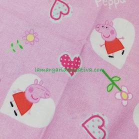 Tela quarter patchwork Peppa Pig