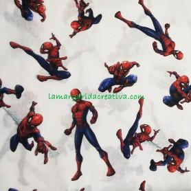 Tela algodón spiderman licencia  en lamargaridacreativa 3