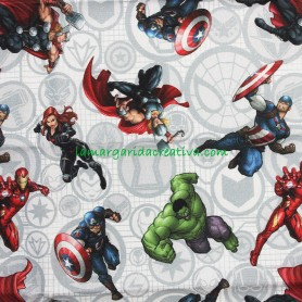 Tela Fat quarter superheroes marvel licencia en lamargaridacreativa 3
