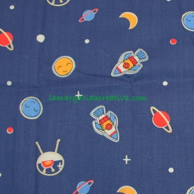Tela Fat quarter infantil space en lamargaridacreativa 3