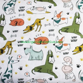 Tela patchwork estampada perros petlovers en la margaridacreativa 4