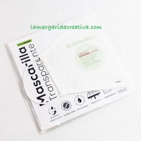 Mascarilla transparente homologada y reutilizable Adulto 10