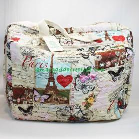 Bolsa patchwork y labores con bolsillos y compartimentos clasificadores  lamargaridacreativa 5