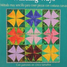Libro patchwork quilys con el diseño Winding Ways fácil