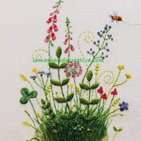 Libro bordados Mí jardín bordado de kazuko Aoki 5