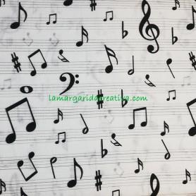 Tela patchwork estampado musica notas pentagrama lamargaridacreativa 3