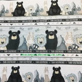 Tela patchwork franela furr-ever friends collection animals I en lamargaridacreativa 5