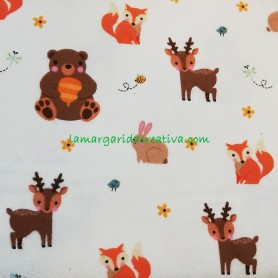 Tela patchwork franela woodland I collection fox en lamargaridacreativa 4