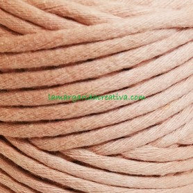 Hilo cuerda macramé fibras recicladas color rosa palo lamargaridacreativa 2