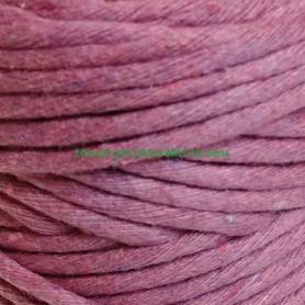 Hilo estambre cuerda macramé fibras recicladas orquidea lilaceo lamargaridacreativa 3
