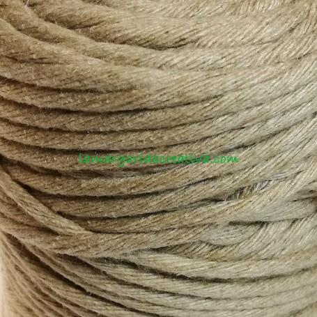 Hilo cuerda estambre macramé fibras recicladas color piedra lamargaridacreativa 3