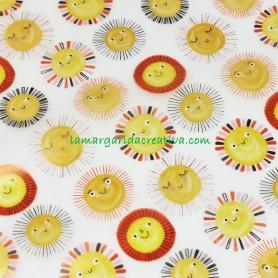 Tela impermeable traslúcida Sunshine Katia fabrics Bebé en la margaridacreativa 3