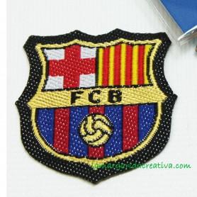Escudo oficial f. c. Barcelona Parche bordado termoadhesivo Pequeño 1