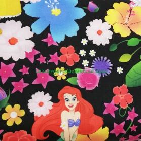 Tela patchwork princesas Disney Sirenita licencia en lamargaridacreativa 6